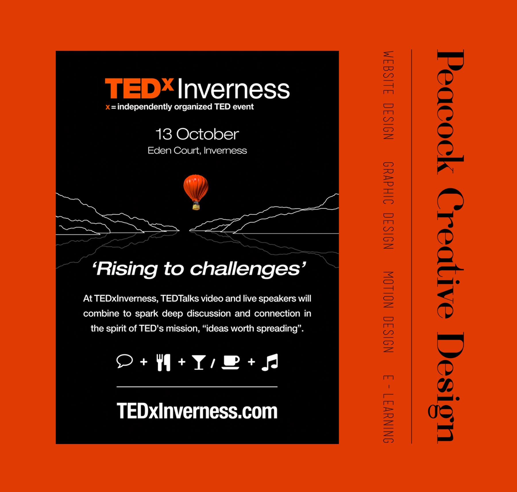 TEDx Inverness poster